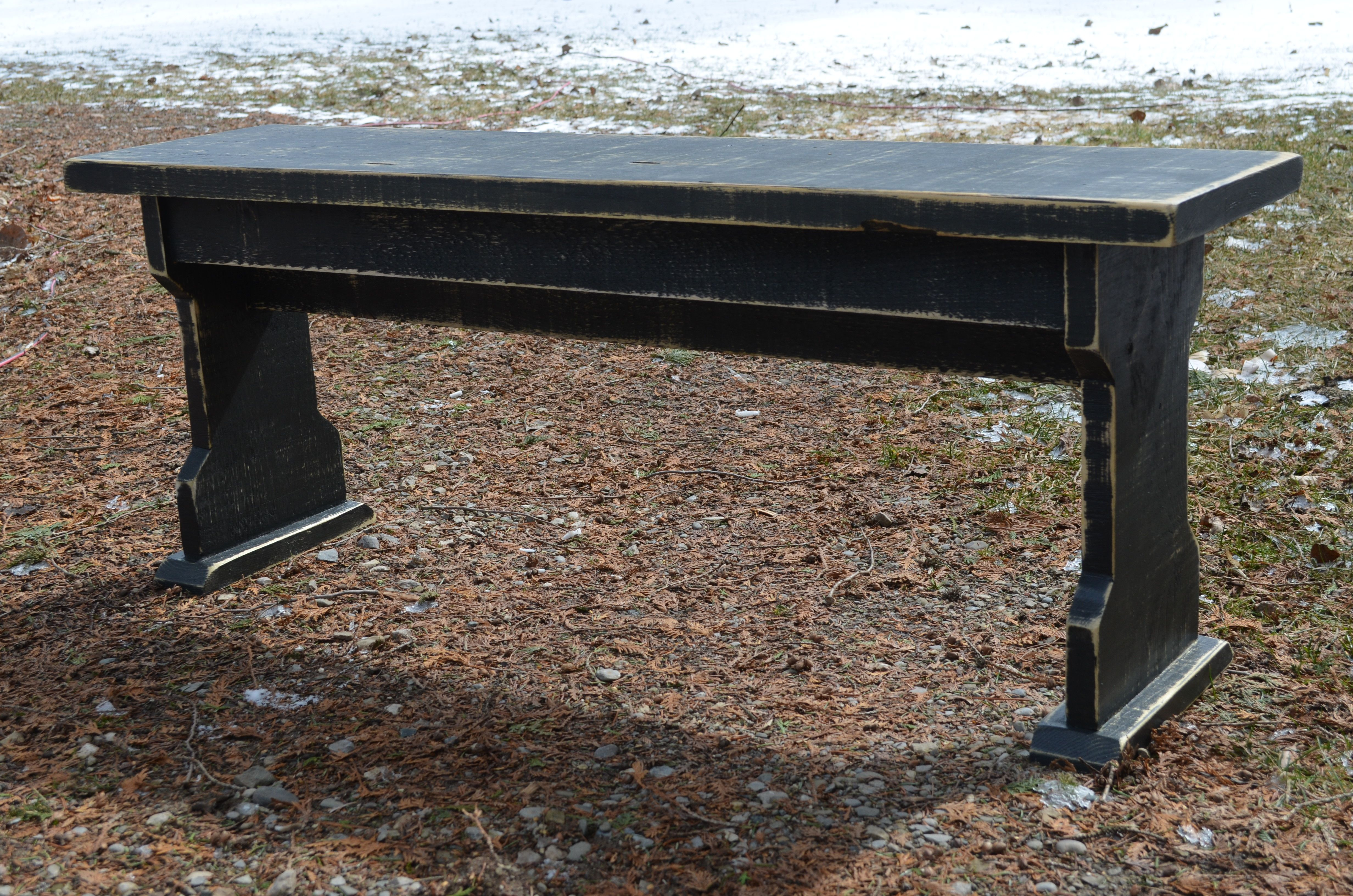 Country Wooden Benches Part - 49: FARMHOUSE STYLE RUSTIC WOOD BENCH, PAINTED BENCH, DISTRESSED WOOD BENCH,  RUSTIC, 1