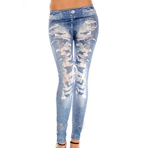 Amybria Women's Skinny Jeggings Stretchy Slim Denim Look Leggings Trousers Blue Amybria http://www.amazon.com/dp/B010L2J43U/ref=cm_sw_r_pi_dp_myzewb01KHPCR