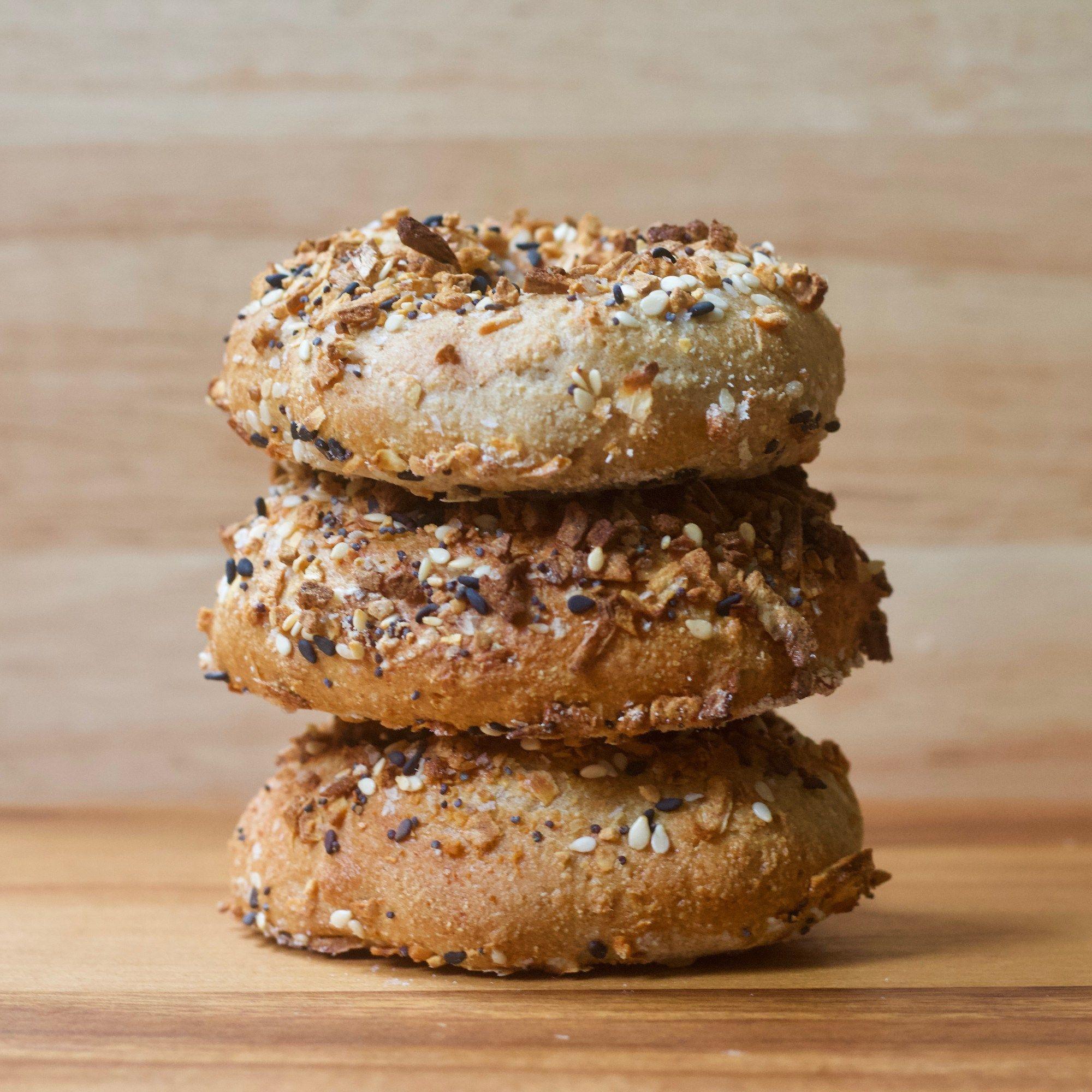 Vegan Everything Air Fryer Bagels Recipe Tasty dishes