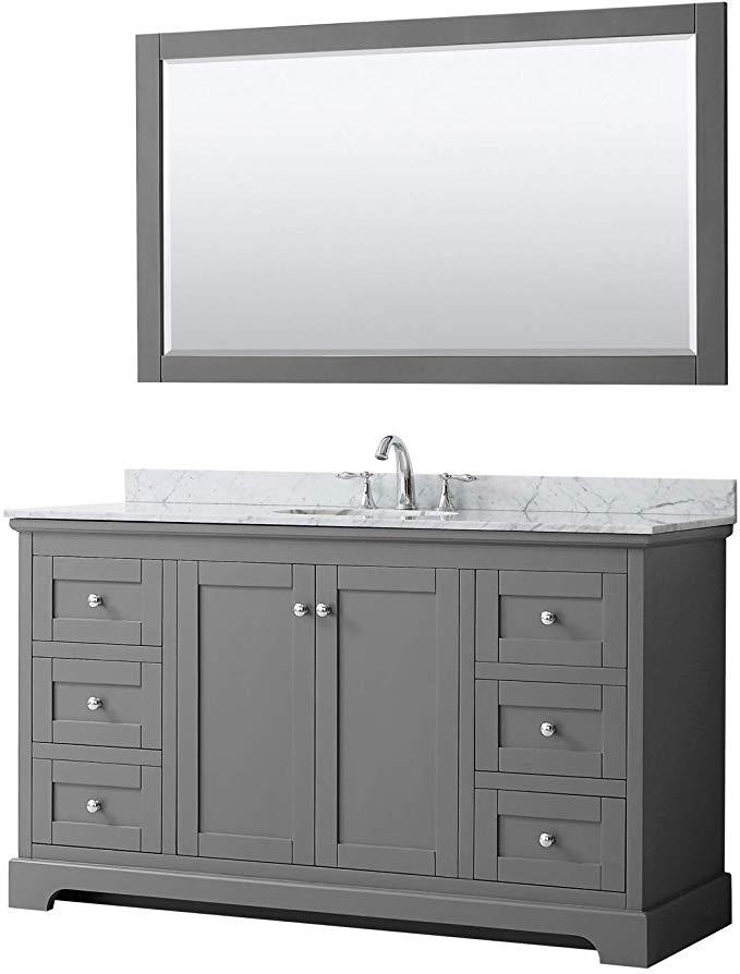 Wyndham Collection Avery 60 Inch Single Bathroom Vanity In Dark