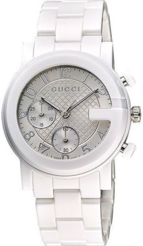b2f6a5cd75b Gucci G-Chrono White Ceramic Stainless Steel Watch Ya101353 ...
