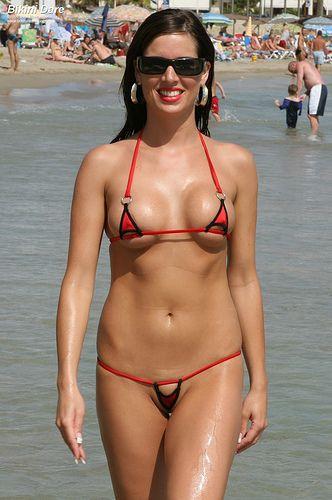 Beach micro bikinis