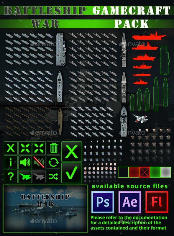 Battleship War Game Assets Game Kits Game Assets