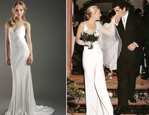Carolyn bessette wedding dress google search wedding for Bessette kennedy wedding dress