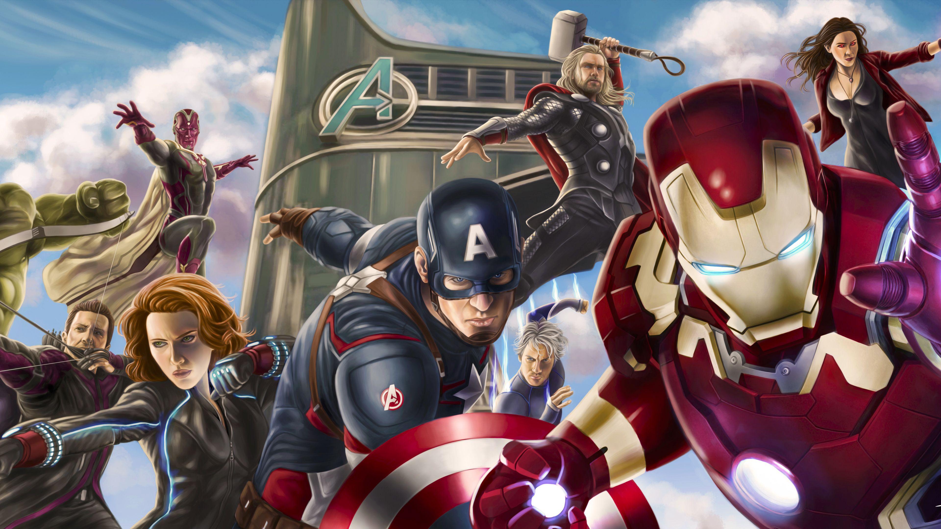 Wallpaper 4k Avengers Assemble Artwork 4k Wallpapers 5k
