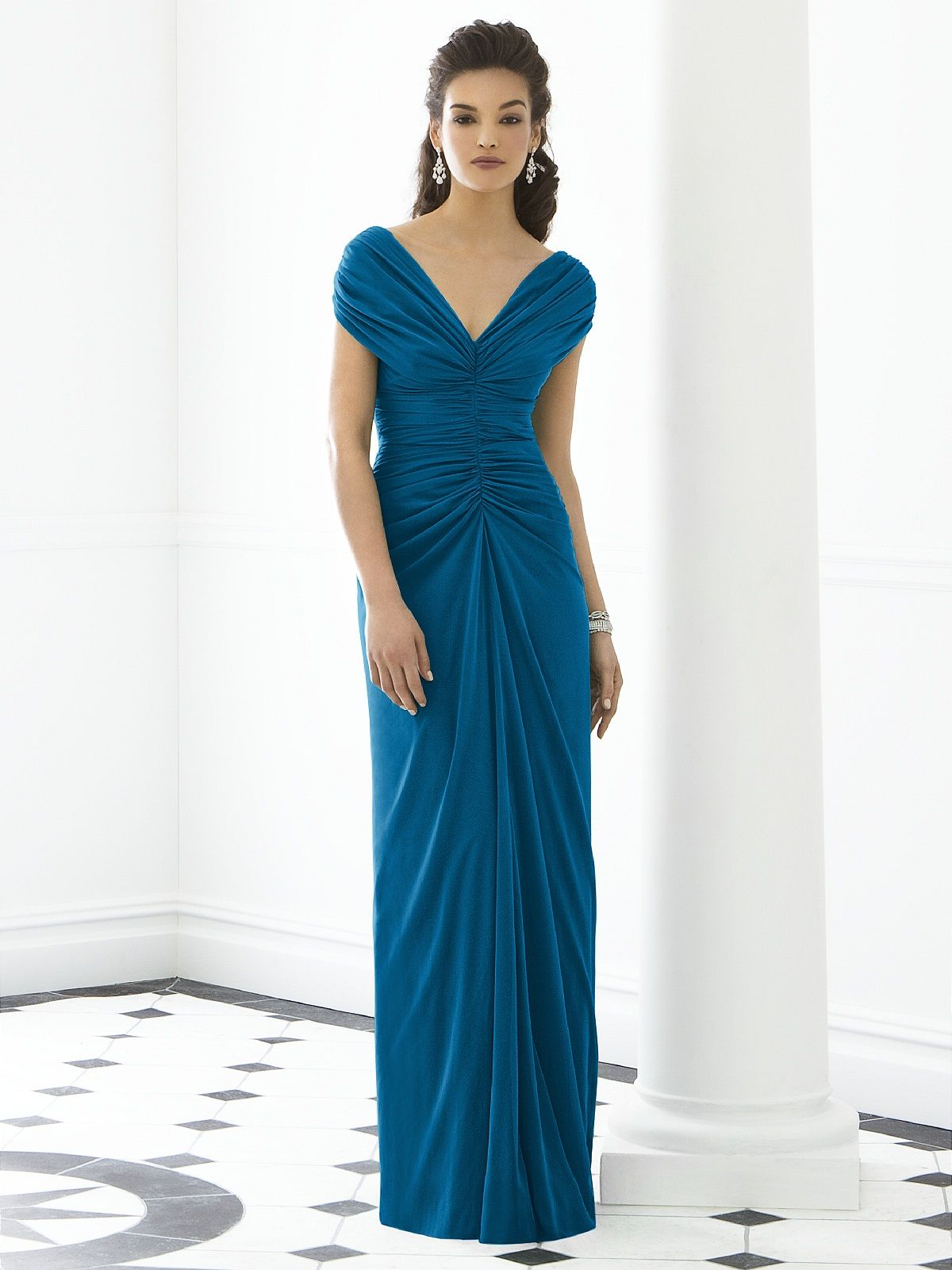 After six bridesmaid dress ocean blue jessica wedding