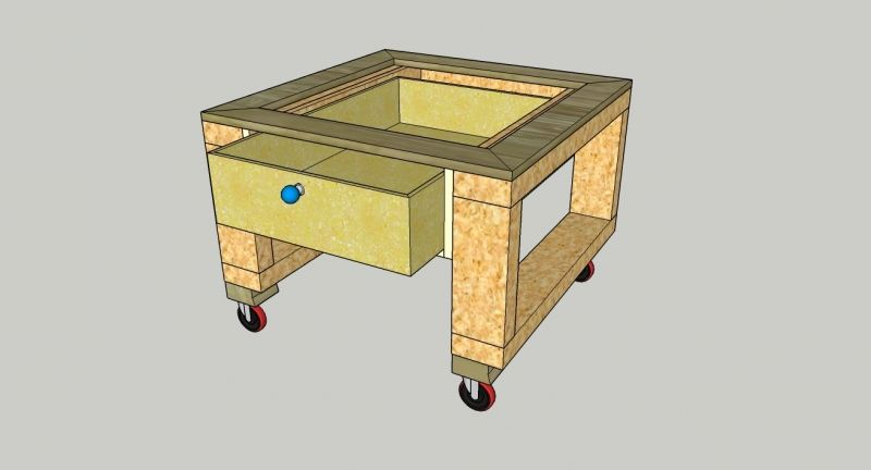 Untertisch für PTS10 | Mobile werkbank, Tisch, Heimwerken