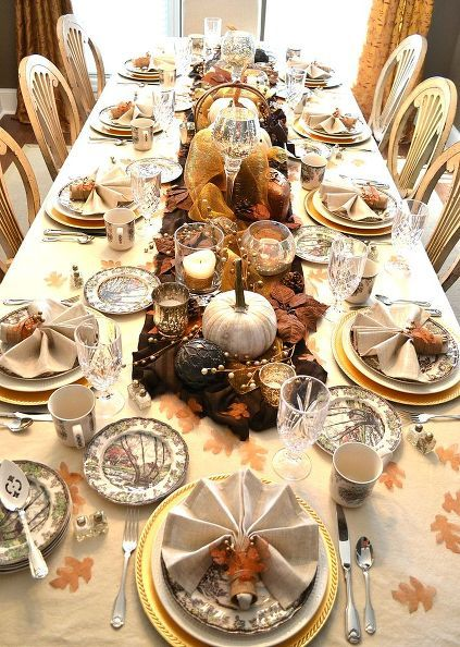 Rustic Glam Fall Tablescape Thanksgiving Dining Table Thanksgiving Table Decorations Thanksgiving Dining Table Setting
