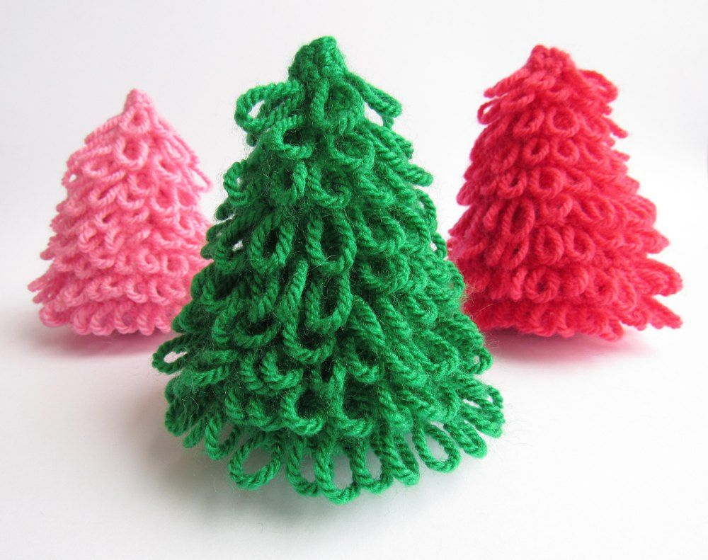 These fun, textured little trees are perfect for Holiday decoration ...