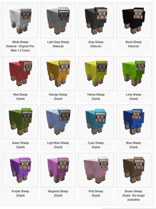 All Wool Colors Minecraft Wool Colors In A Different Approach P