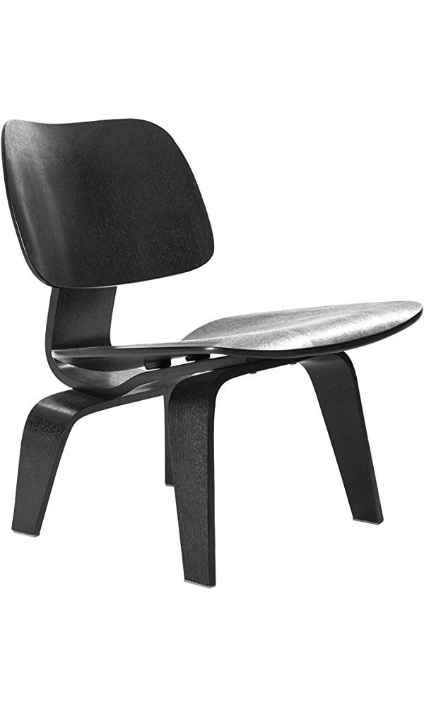 LexMod Fathom Lounge Chair, Black Best Price