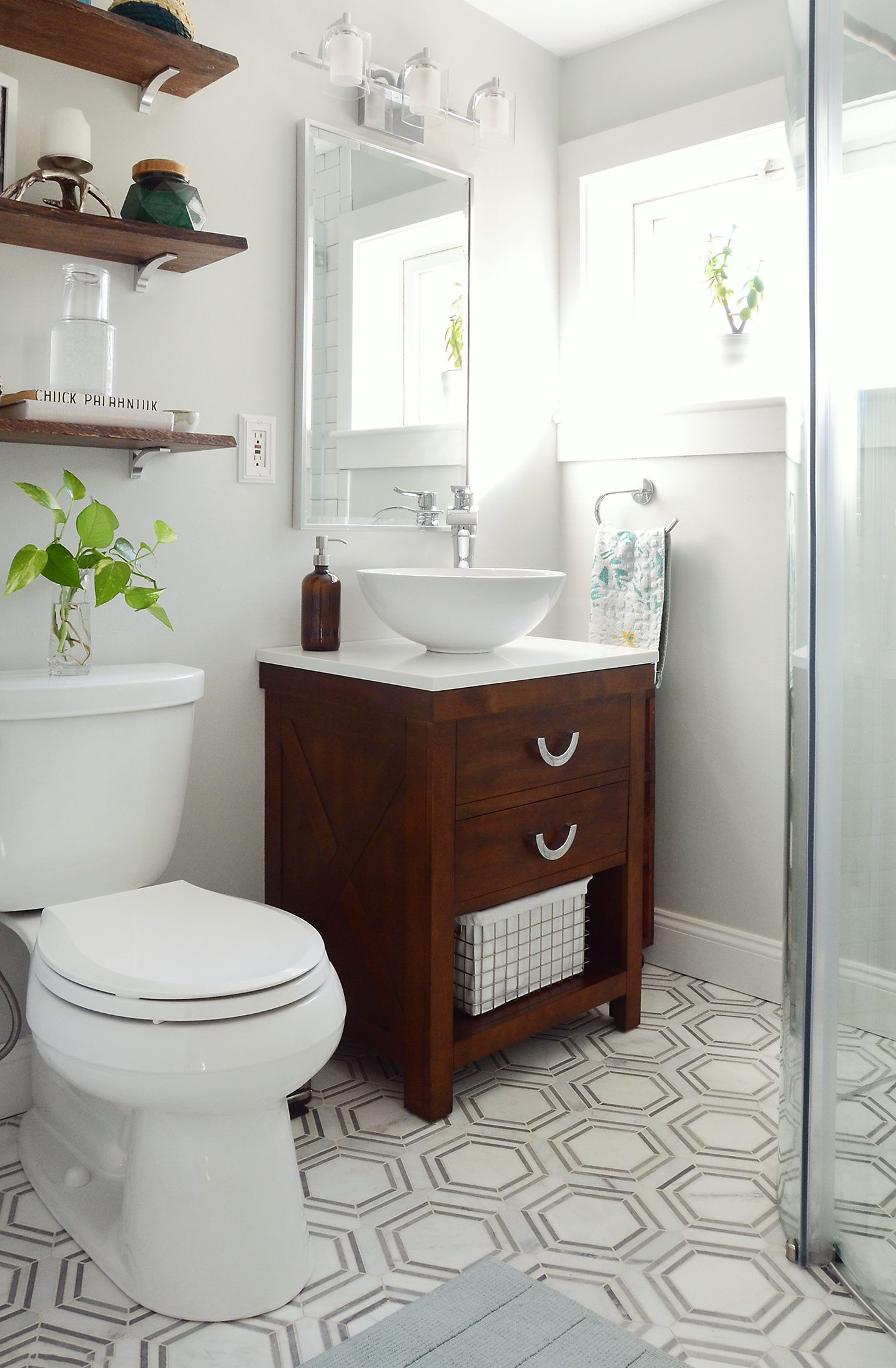 One Room Challenge Small Bathroom Makeover Reveal Small