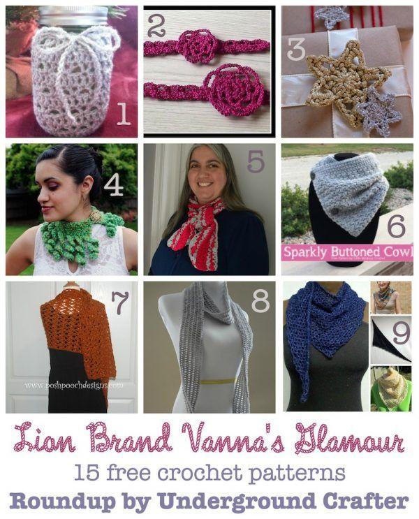 15 Free Crochet Patterns In Lion Brand Vanna S Glamour Yarn Free Crochet Crochet Patterns Crochet Cardigan Pattern