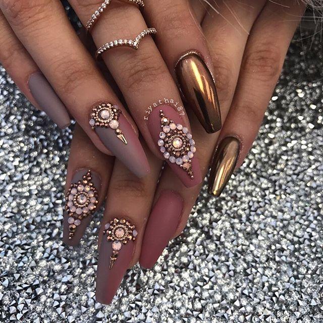 ΛИƬĤƐĿYИИ •° | Nails | Pinterest | Coffin nails, Nail nail and Makeup