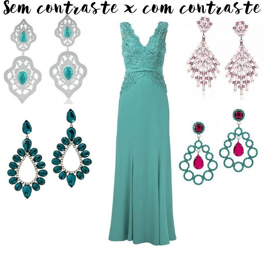 ca3e7f7a7 Como combinar brinco com vestido de festa! | Geyimlər | Formal ...