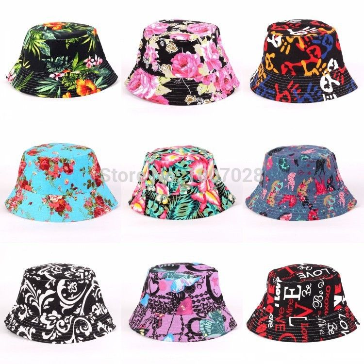 113c3eca980b52 Cheap hat case, Buy Quality hat carrier directly from China hat summer  Suppliers: Free Shipping new women floral Sun Hat - Flower Canvas Bucket Hat  24 ...