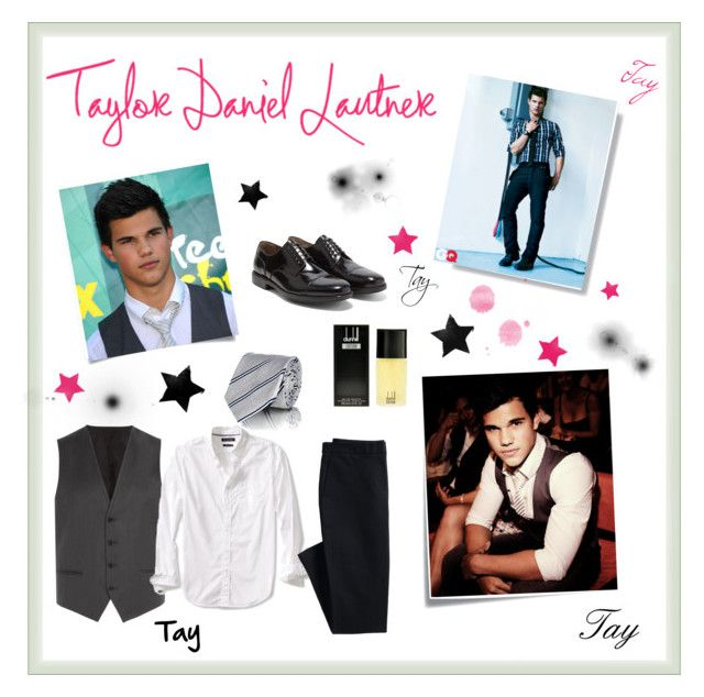 """""""Taylor Lautner """" by ynayara ❤ liked on Polyvore featuring Post-It, HUGO, Banana Republic, Canvas by Lands' End, Barneys New York, Salvatore Ferragamo, Alfred Dunhill, men's fashion, menswear and stylestar"""