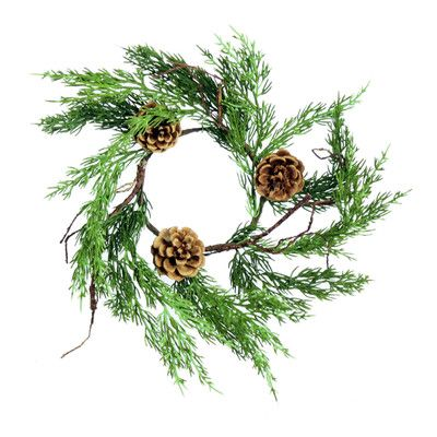 "SheasWildflowers 15"" Greenwood Road Cedar Wreath"