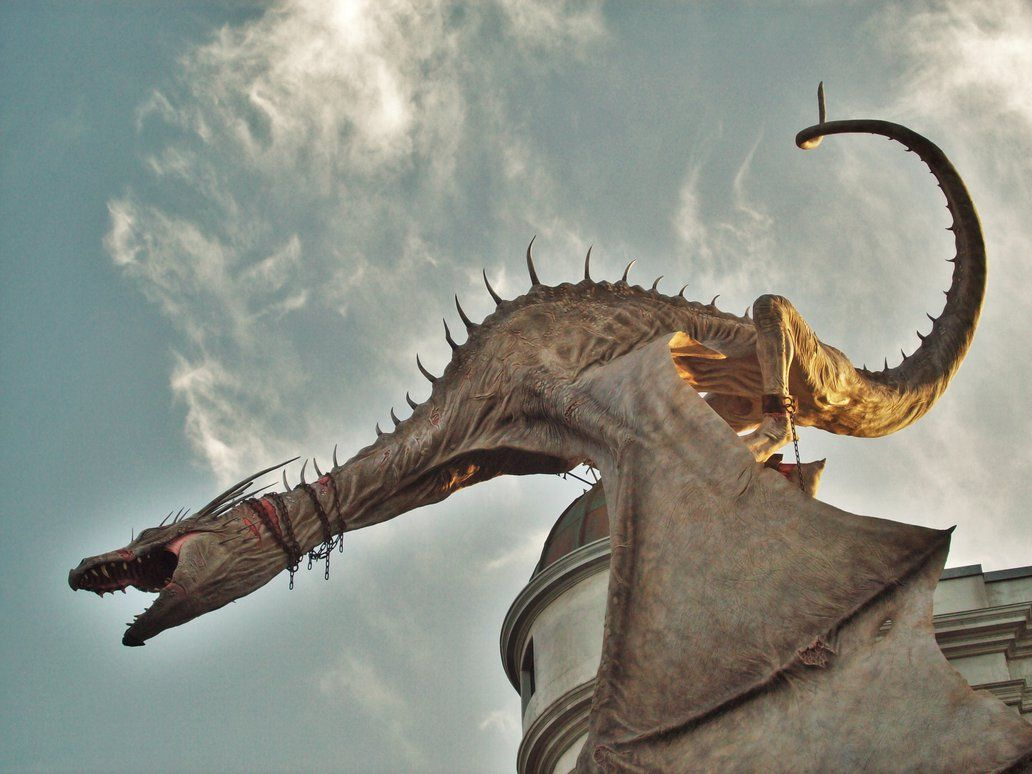 The Ukrainian Ironbelly Dragon of Gringotts at Diagon Alley at ...
