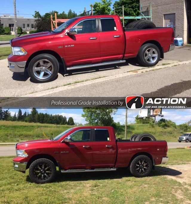 Before After Ram 1500 2 5 Leveling Kit From Readylift Suspension