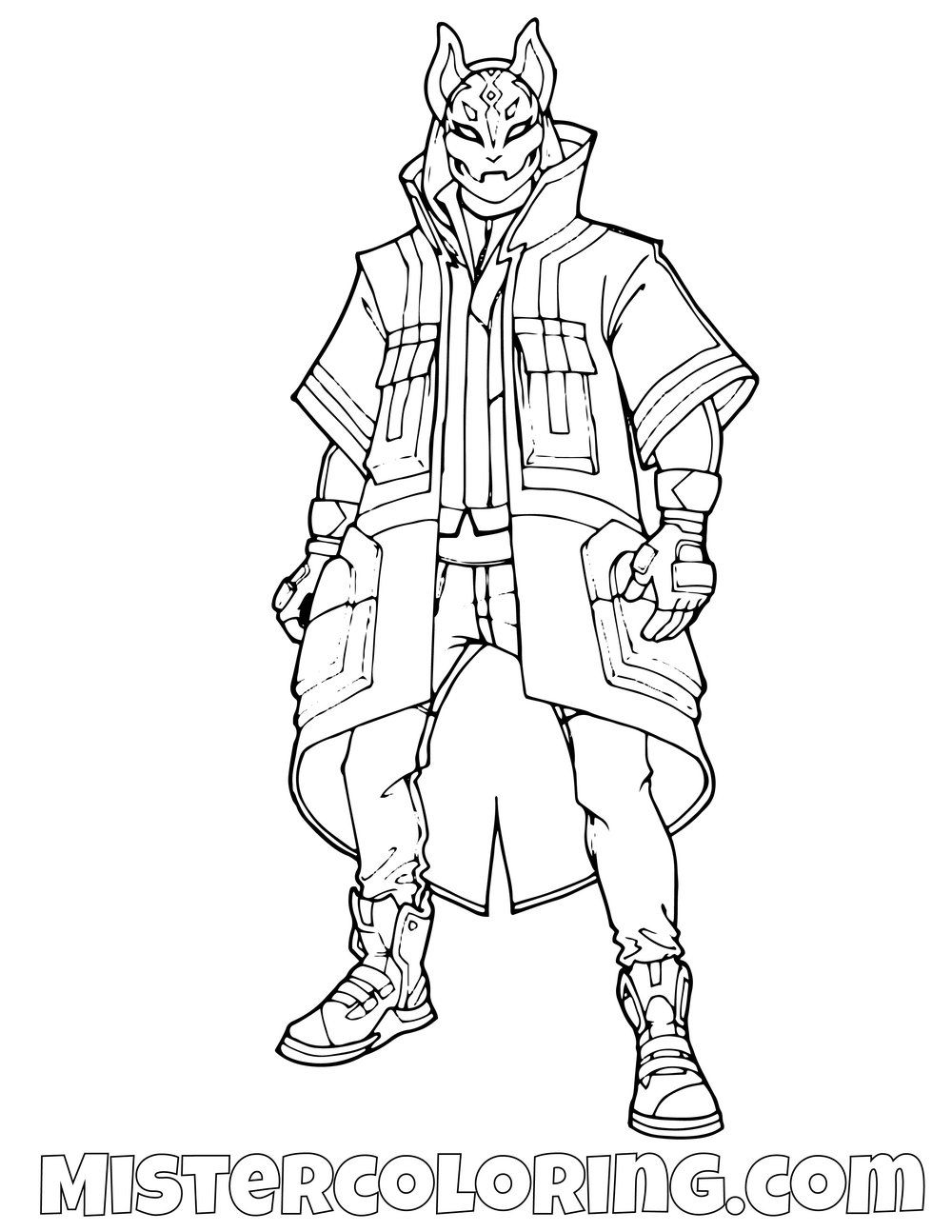 Drift Fortnite Coloring Page Coloring Pages For Kids Cartoon Coloring Pages Coloring Pages
