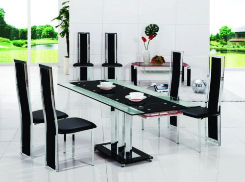 PAVIA-EXTENDING-GLASS-CHROME-DINING-ROOM-TABLE-4-CHAIRS-SET