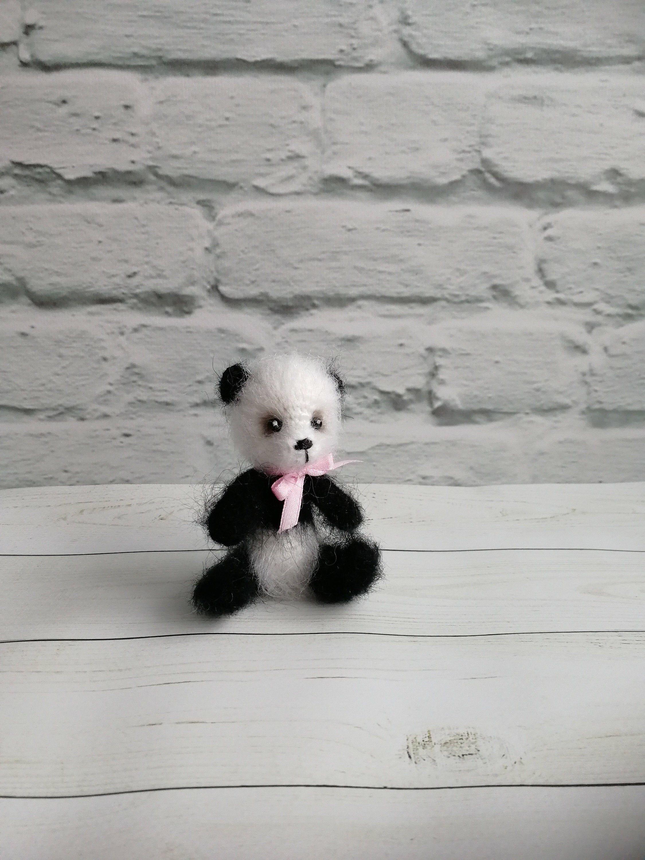 Small panda toy,crochet panda bear,Crochet teddy bear,miniature panda toy,plush nursery,amigurumi panda mini,panda bear,Woodland animal toy #beartoy
