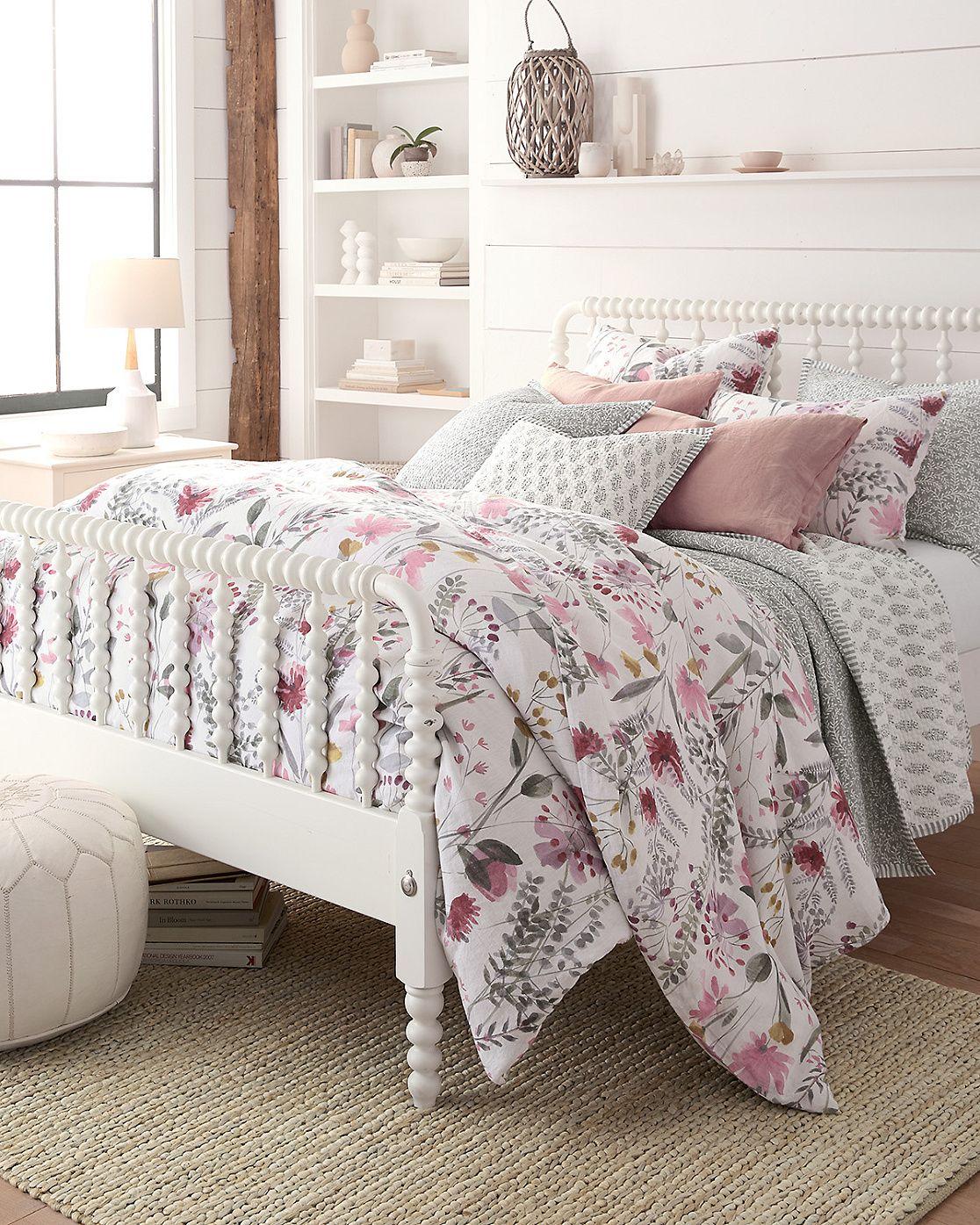 Wildflower Linen Duvet Cover, Sham, and Pillow Cover