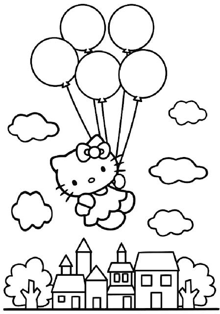 Mewarnai Balon Udara : mewarnai, balon, udara, Gambar, Mewarnai, Balon, Balon,, Gambar,, Warna