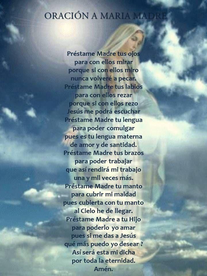 Asuncion De La Virgen Maria Oracion Jpg 720 960 Pixeles Oraciones Oraciones Catolicas Oraciones Catolicas Cortas