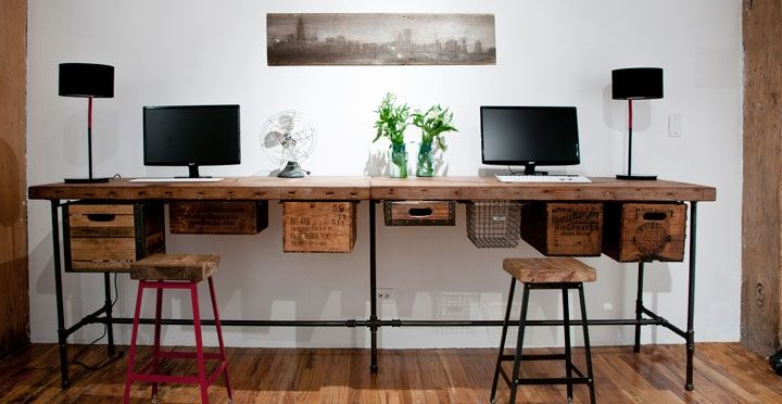 Modern Office Desks Custom Reclaimed Wood Furniture Urban Goods