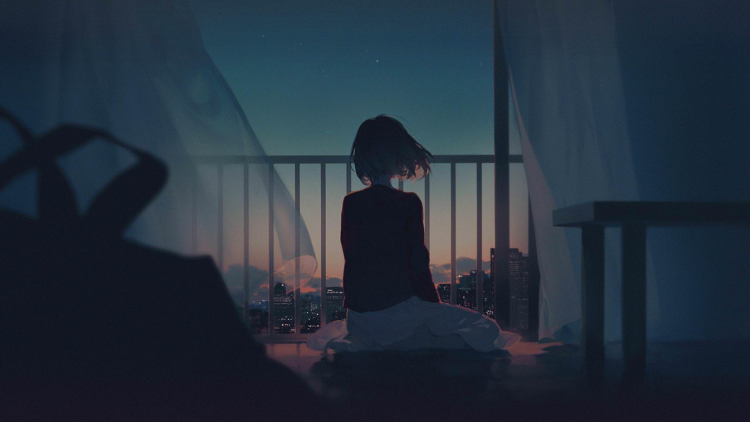 Anime Wallpaper Dark Anime Wallpaper 1920x1080 Alone Girl Anime Background