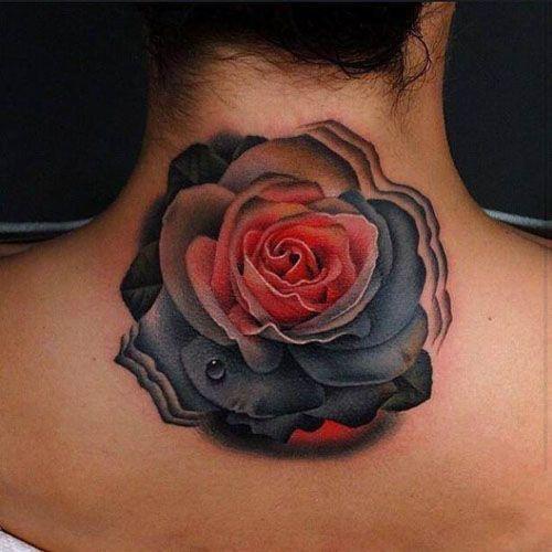 Black And Red Roses Tattoo Www Imgarcade Com Online Image Arcade Rose Neck Tattoo Black Rose Tattoo Meaning Black Rose Tattoos