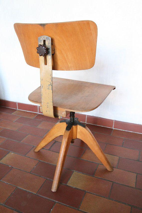 Vintage bauhaus architects swivel chair [bombenstabil