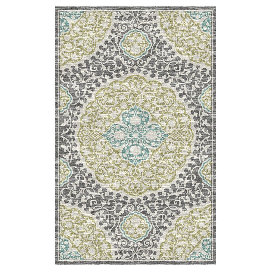 Mohawk Home Tahj Sage Rectangular Indoor Tufted Area Rug Common 10 X 14 Actual 120 In W X 168 In L X 0 5 Ft Dia Area Rugs Mohawk Home Rugs
