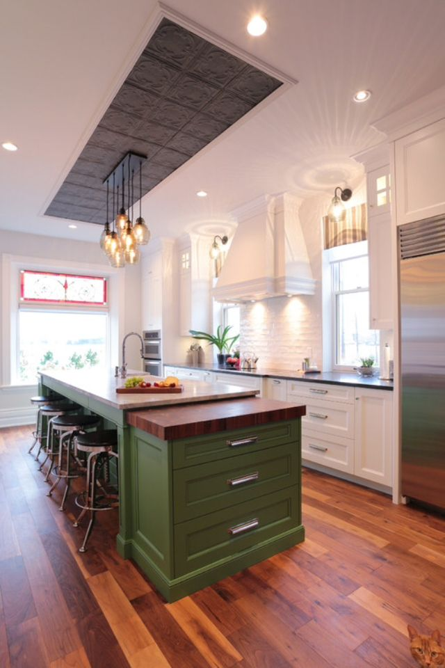 pin by t lee smith on if you can t stand the heat green kitchen cabinets green kitchen on t kitchen ideas id=52443