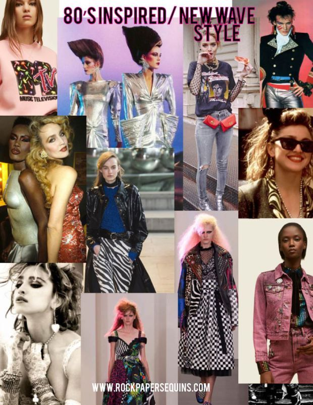 Image result for 80\u0027s new wave fashion