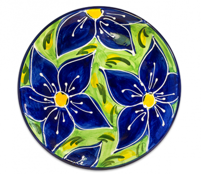 Spanish-ceramic-plate-blue-flowers-design-99040  sc 1 st  Pinterest & Spanish-ceramic-plate-blue-flowers-design-99040 | Pottery painting ...
