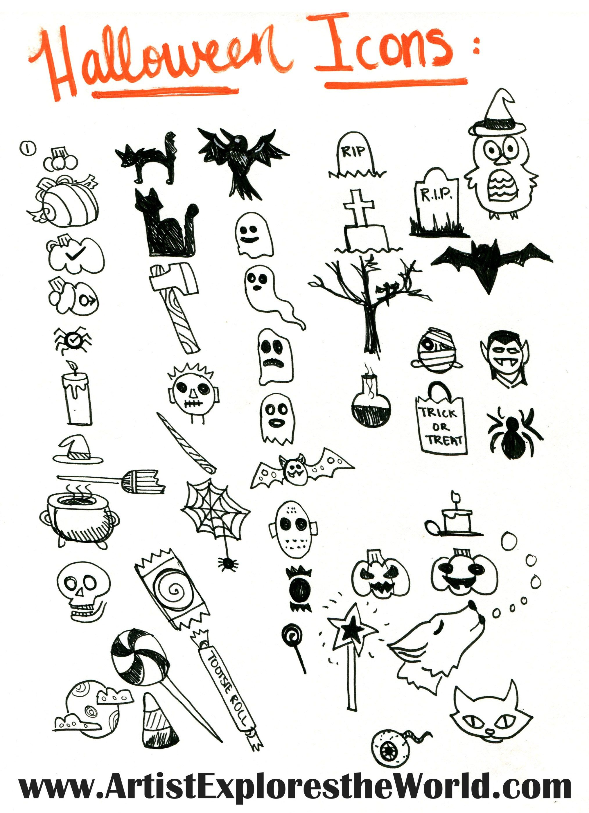 Halloween Headers and Icons for Your Bullet Journa