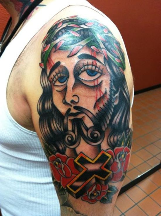 Jesus Tattoo Designs: Cool Jesus Tattoo Designs For Men On Sleeve ~ Cvcaz Tattoo Art Ideas ~ Tattoo Design Inspiration