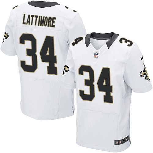 Men s Nike New Orleans Saints  34 Marshon Lattimore Elite White NFL Jersey eb931f4ee