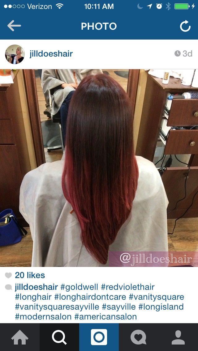 Red violet ombré @jilldoeshair