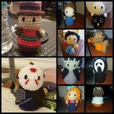 Crochet Horror Icons