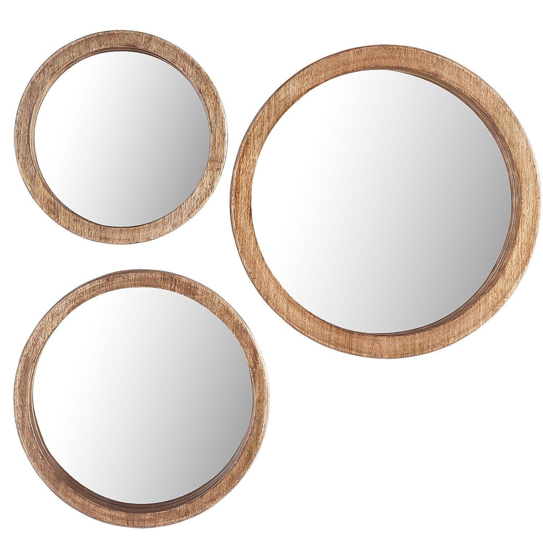Round Wood Mirror Set   Pier 1 Imports   dons house   Pinterest