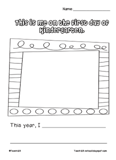 Worksheets First Day Of Kindergarten Worksheets first day of school linky party pictures party