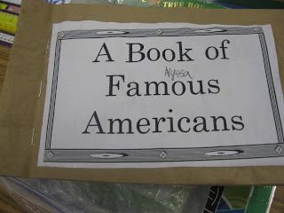 Third Grade Thinkers: Famous American Paper Bag Book Materials and Printables