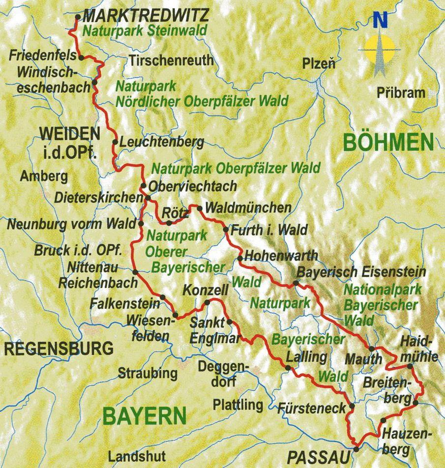 Der Goldsteig Wanderweg Oberpfalzer Wald Bayerischer Wald Wandern Vom Fichtelgebirge Nach Passau