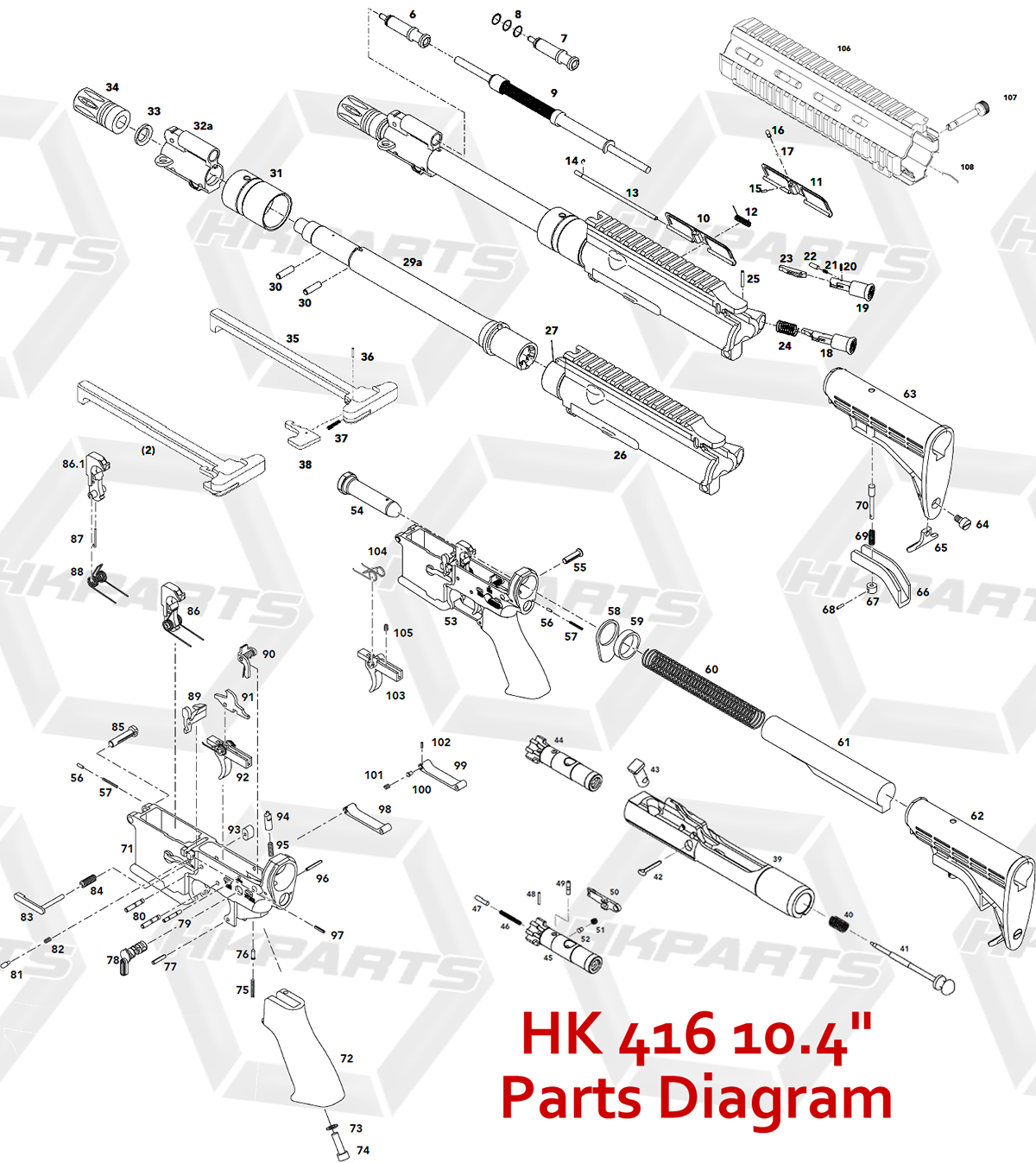 hk416 disassembly - Google Search | Gun building | 총