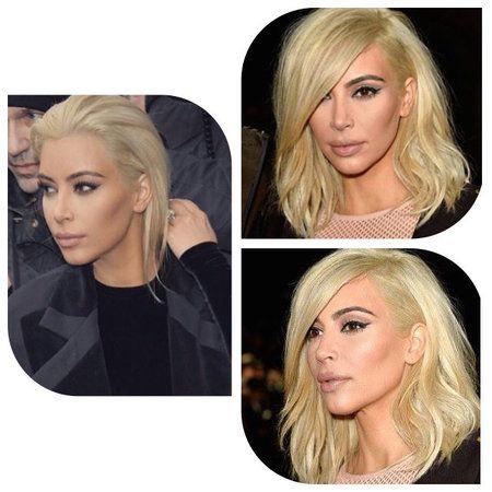 Loving it! #KimKardashian #PlatinumBlonde #hairlooks