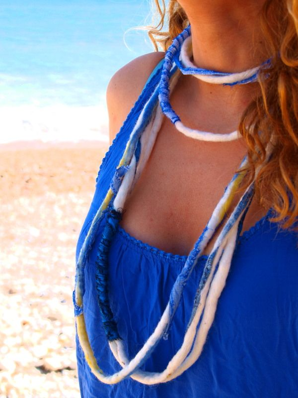 """Th-Eros"" - ""Θ-έρως"".   Felted summer accessories by Philosopher's Joke. #ethnic #greek #summer"